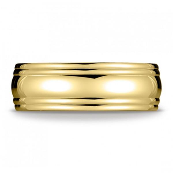 Polished carved ring